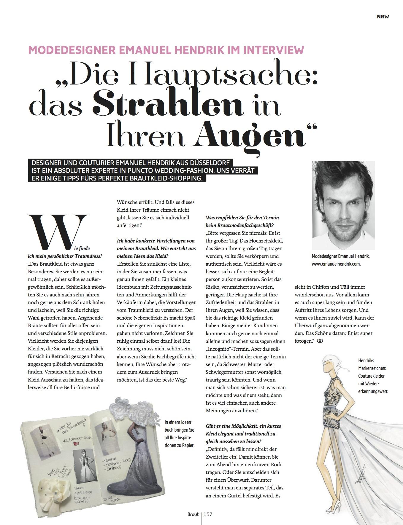Designer Interview Brautmagazin