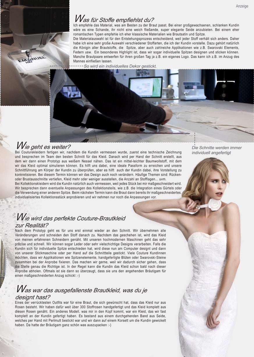 braut und bräutigam düsseldorf - 2014 - presse - Brautkleid