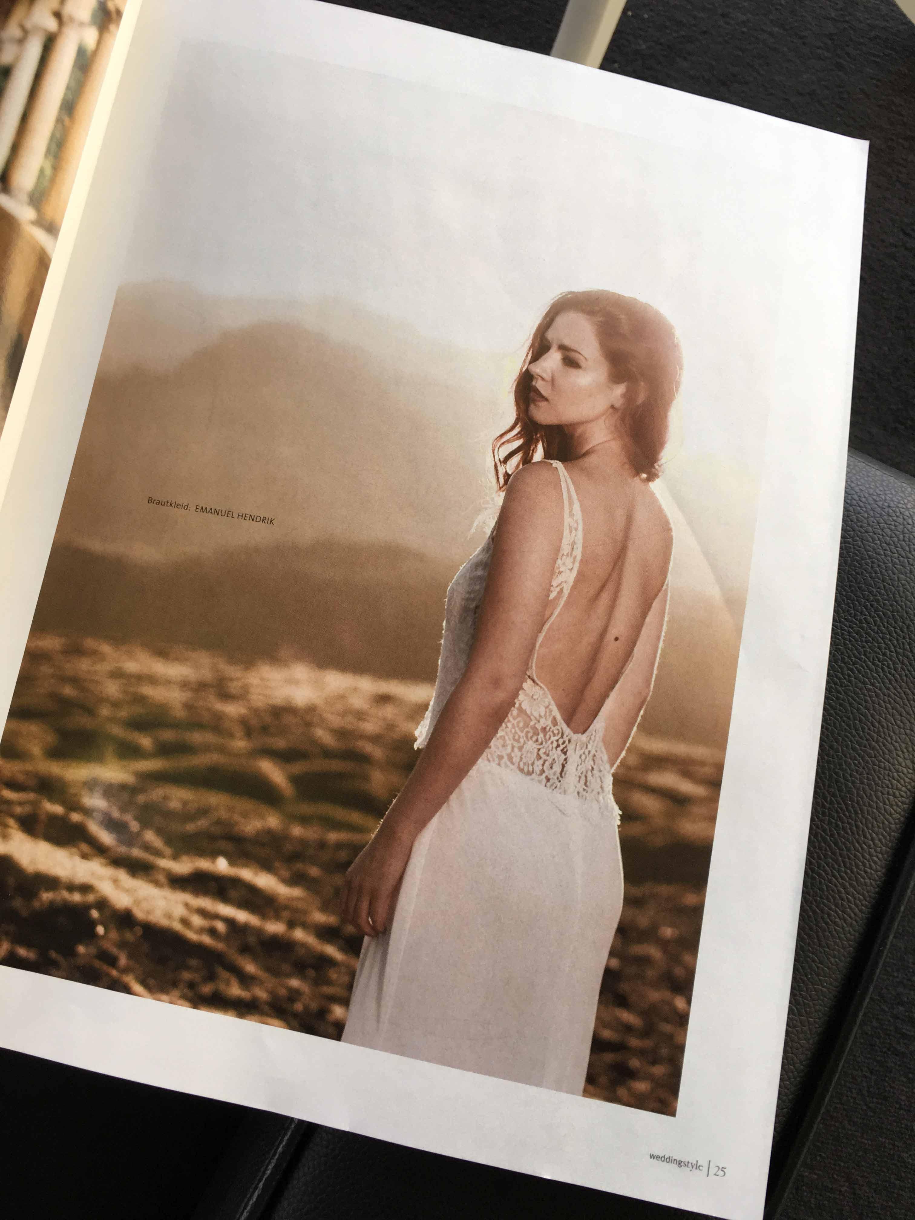 Presse - Wedding Style 2016 - Island - Sina Lindner - Martin Krolop - elegantes Brautkleid Sharon