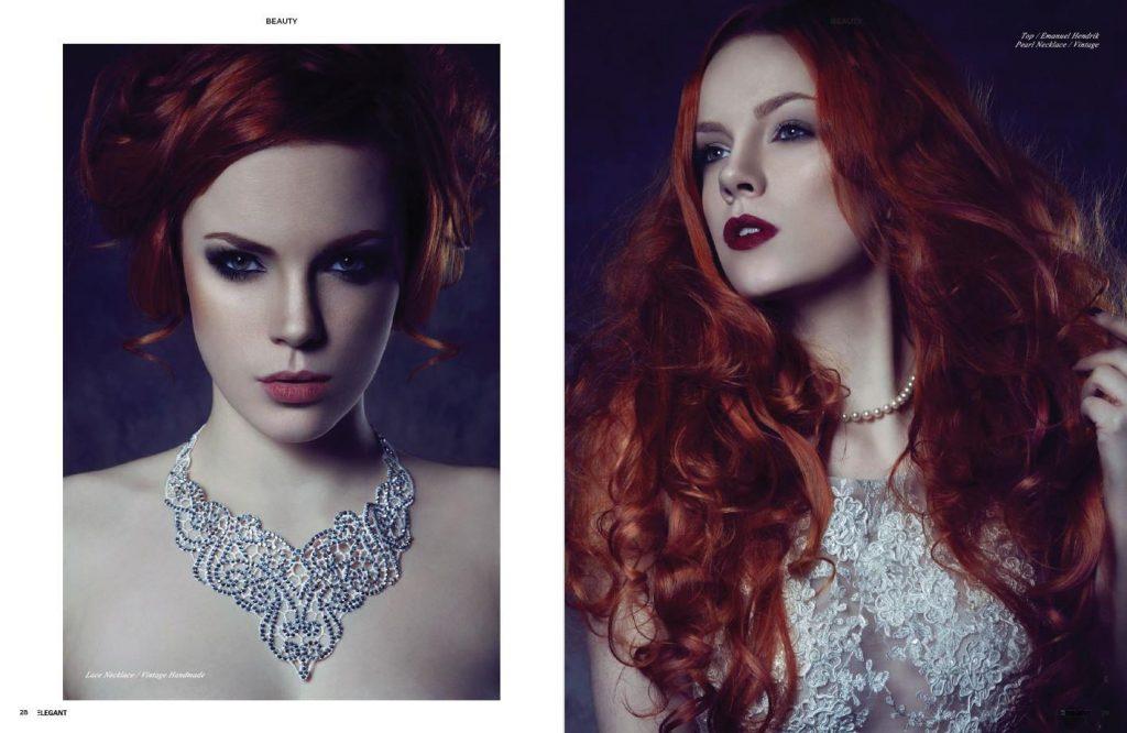 2016 - Eleganz Magazin - Presse - Shooting - Lara Gilles - Zara Axeronias