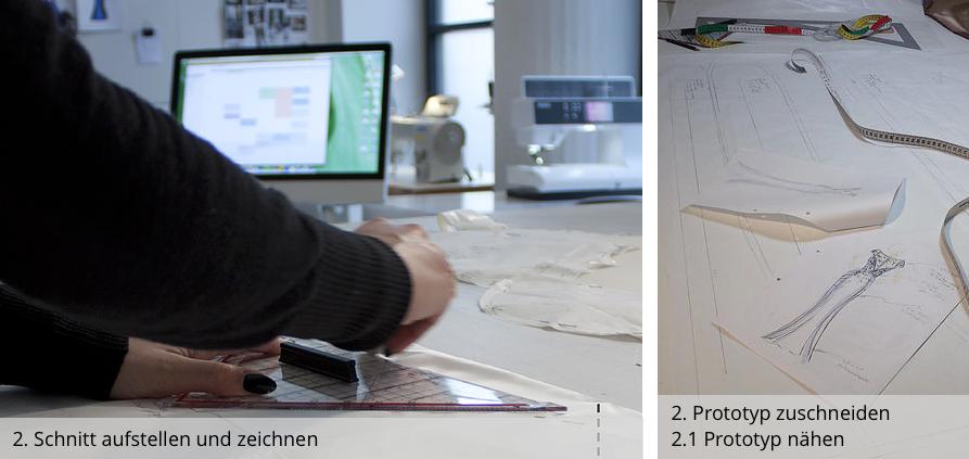 Atelier 2016 - Anfertigung - Schnitt Erstellen & Technische Zeichnung - couture
