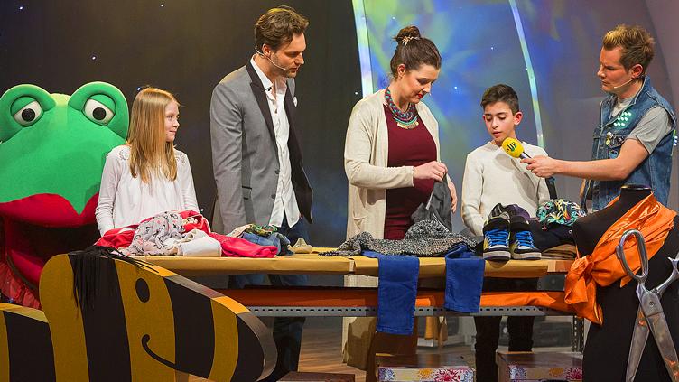 Presse - TV - 2016 - Emanuel zu Gast im TigerentenClub - Styling für Kids