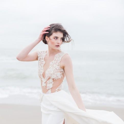 Brautkleid am Strand in Holland 2016